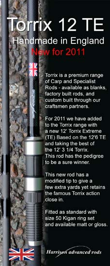 New Torrix 12 TE Carp Rod